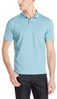 Van Heusen Men's Short-Sleeve Printed Windowpane Polo Shirt