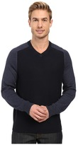Perry Ellis Color Block V-Neck Sweater