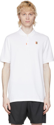 Nike White Heritage Tennis Polo