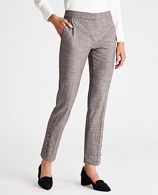 Ann Taylor The Ankle Pant with Button Detail - Curvy Fit