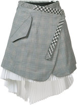 Sacai asymmetric wrap skirt - women - Cotton - 1