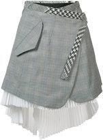 Sacai asymmetric wrap skirt - women - Cotton - 2