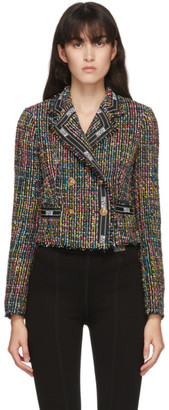 Versace Jeans Couture Black Tweed Cropped Jacket