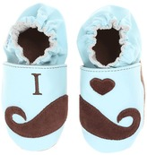 Robeez I Luv Mustaches Soft Soles (Infant/Toddler) (Blue) - Footwear