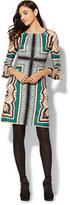 New York & Co. Bell-Sleeve Shift Dress - Medallion Print