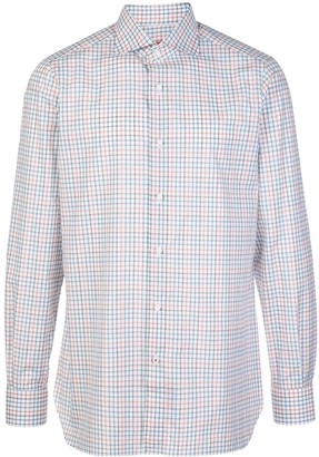 Isaia Check-Print Buttoned Shirt