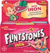 Ultra Guard Flintstones Plus Iron Childrens Multivitamin Chewable Tablets - 60 Count