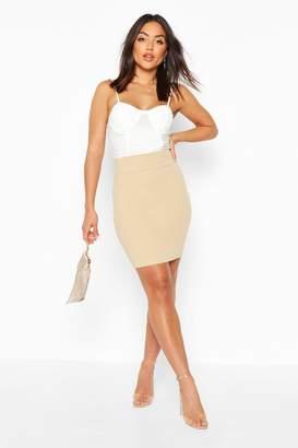 boohoo Deep Contour Waistband Mini Skirt
