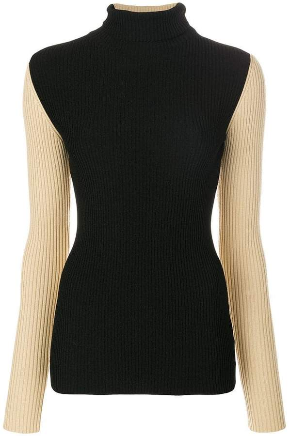 Petar Petrov contrast sleeve knitted top