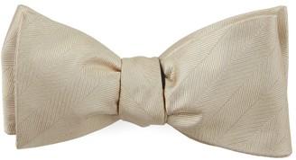 Tie Bar Herringbone Vow Light Champagne Bow Tie