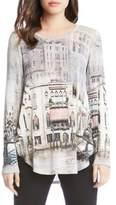 Karen Kane Venice Canal Shirttail Top