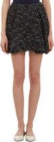 3.1 Phillip Lim Frayed Trim Pleated Tweed Skirt