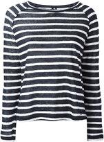 Woolrich striped longsleeve top - women - Linen/Flax - M