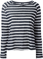 Woolrich striped longsleeve top - women - Linen/Flax - XS