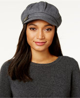 Nine West Croco-Buckle Newsboy Cap