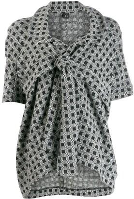 Yohji Yamamoto Pre-Owned patterned knot detail jacket