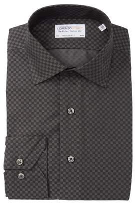 Lorenzo Uomo Textured Square Long Sleeve Regular Fit Shirt