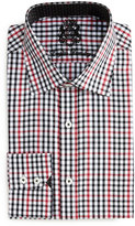 English Laundry Check-Print Woven Dress Shirt, Black/Red