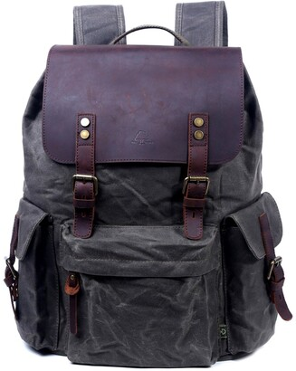Tsd Stone Creek Waxed Canvas Backpack