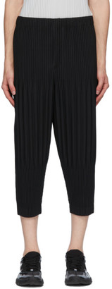 Homme Plissé Issey Miyake Black Basics Cropped Trousers