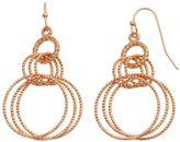 Apt. 9 Textured Hoop Drop Earrings