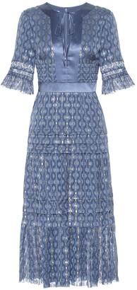 Temperley London Suki silk blend midi dress