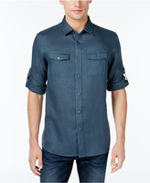 Michael Kors Men's Linen Tailored-Fit Dual-Pocket Shirt