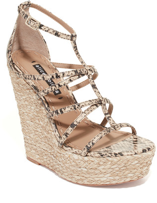 Alice + Olivia Talise Snake Skin Wedge
