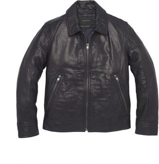 Andrew Marc   Final Sale Morrison Shirt Collar Leather Jacket