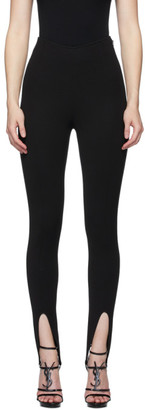 Saint Laurent Black Front Slit Leggings