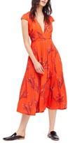 Free People Women's Print Retro Midi Dress