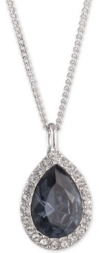 """Givenchy Pave & Stone Pear Pendant Necklace, 16"""" + 3"""" extender, Created for Macy's"""