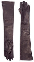 Saks Fifth Avenue Collection Silk-Lined Leather Opera Gloves