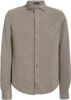 Ralph Lauren Purple Label Washed Cotton Pique Shirt