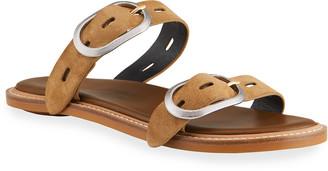 Rag & Bone Ansley Suede Buckle Slide Sandals