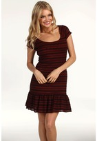 Free People Cozy Day Flounce Dress (Copper Combo) - Apparel
