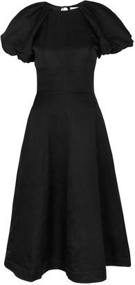 Rebecca Vallance Aimee black puff-sleeve dress
