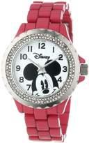 EWatchFactory Disney Women's W000505 Mickey Mouse Enamel Sparkle Bracelet Watch