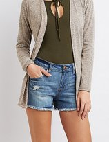 "Charlotte Russe Refuge """"Girlfriend"""" Cut-Off Denim Shorts"