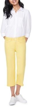NYDJ Wide-Leg Cropped Tummy-Control Jeans