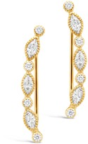 Sterling Forever Bezel Set Cubic Zirconia Ear Crawlers