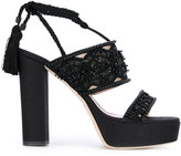 Alberta Ferretti strappy sandals - women - Cotton/Leather - 39
