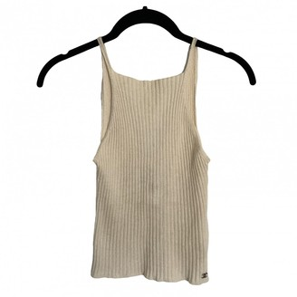 Chanel Ecru Cashmere Top for Women Vintage