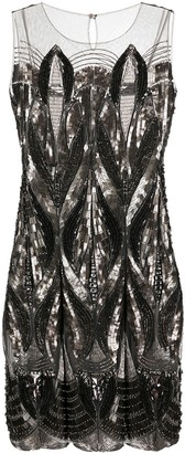 Alberta Ferretti Sequin-Embellished Cocktail Dress