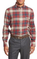 Nordstrom Men's Regular Fit Plaid Flannel Sport Shirt
