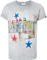 Converse bar code star print T-shirt