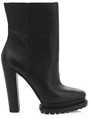 Alice + Olivia Women's Holden Platform Shearling-Lined Leather Boots