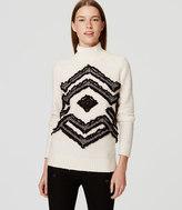 LOFT Fringed Snowflake Sweater