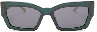 Christian Dior Catstyledior2 Rectangular Acetate Sunglasses - Green