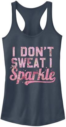 Fifth Sun Juniors' No Sweat But Sparkle Racerback Tank